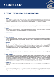 GLOSSARY OF TERMS OF THE SHOP INGOLD