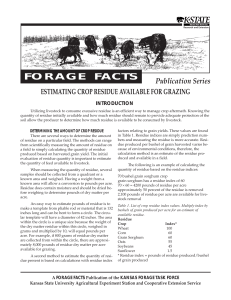 S115 Forage Facts Notebook - Missouri State University