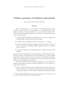 Gröbner geometry of Schubert polynomials