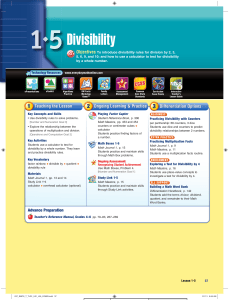 Divisibility - Everyday Math