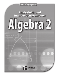 Study Guide and Intervention Workbook