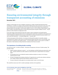 Ensuring environmental integrity through transparent accounting of