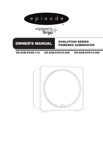 Episode Evolution Series Powered Subwoofer Product