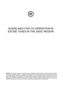 guidelines for co-operation in excise taxes in the sadc region