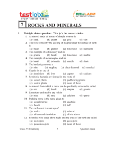 7 rocks and minerals