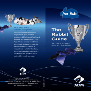The Rabbit Guide - ADM Animal Nutrition