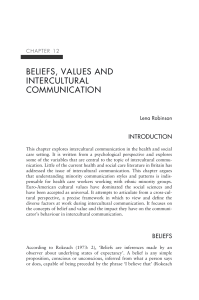 beliefs, values and intercultural communication