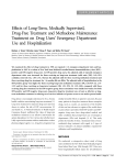 Effects of Long-Term, Medically Supervised, Drug