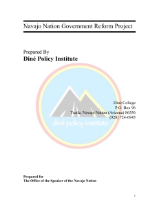 Navajo Nation Government Reform Project Diné