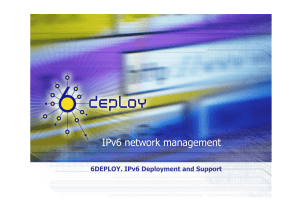 IPv6 network management