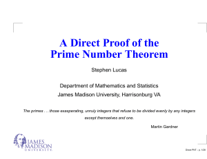 A Direct Proof of the Prime Number Theorem