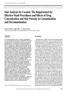 Hair Analysis for Cocaine: The Requirement for Effective Wash
