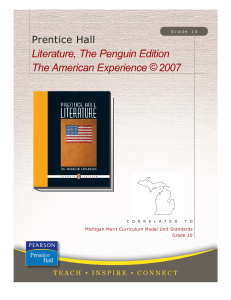 Literature, The Penguin Edition, The American