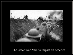 The Great War And Its Impact on America