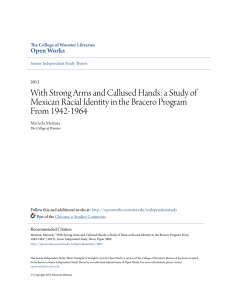 With Strong Arms and Callused Hands: a Study of Mexican Racial