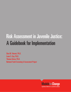 Risk Assessment in Juvenile Justice: A Guidebook for