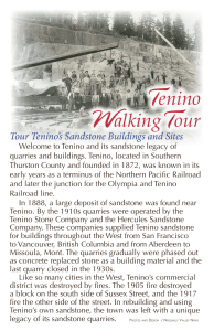 Tour Tenino`s Sandstone Buildings and Sites