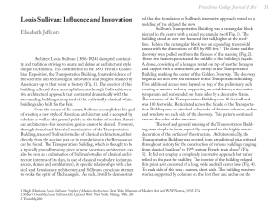 Louis Sullivan: Influence and Innovation