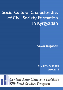 Socio-Cultural Characteristics of Civil Society Formation in Kyrgyzstan