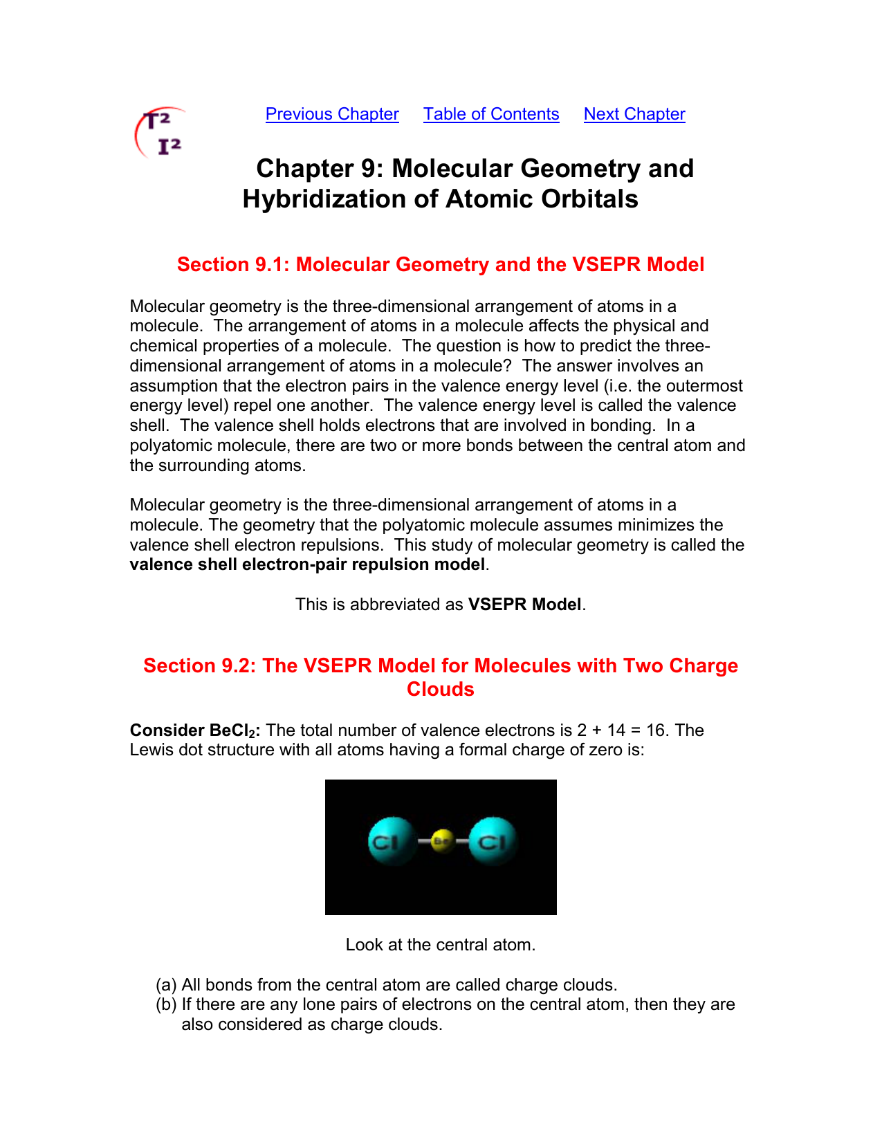 Molecular Geometry And Hybridization