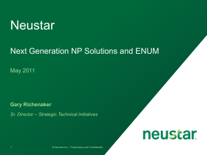 Next Generation NP Solutions - ENUM