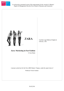 Zara: Marketing in Fast Fashion