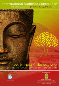 Papers presented at the International Buddhist Conference, March