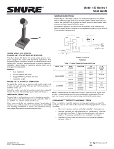 Shure 450 SERIES II Paging and Dispatching Microphone User Guide
