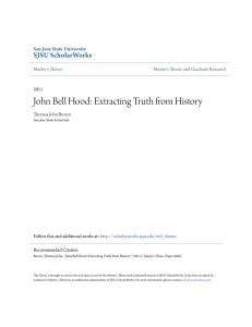 John Bell Hood: Extracting Truth from History
