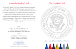 About the President`s Seal The President`s Seal