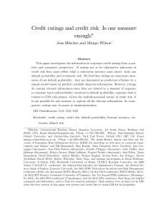 Credit ratings and credit risk: Is one measure enough?