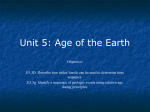 Unit 5: Age of the Earth - Ann Arbor Earth Science