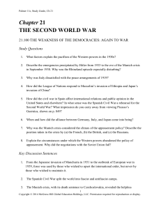 Chapter 21 THE SECOND WORLD WAR