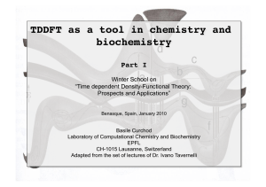 TDDFT as a tool in chemistry and biochemistry