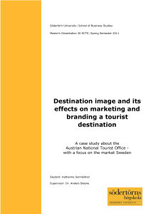 Destination image and its effects on marketing and branding
