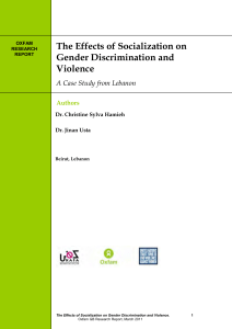 The Effects of Socialization on Gender Discrimination and