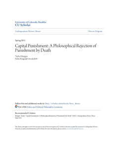Capital Punishment: A Philosophical Rejection of