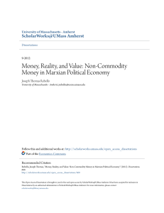 Money, Reality, and Value: Non-Commodity Money in Marxian
