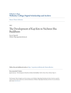 The Development of Kaji Kito in Nichiren Shu Buddhism