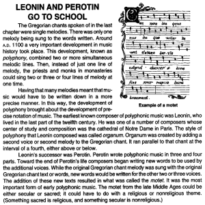 LEONIN AND PEROTIN GO TO SCHOOL