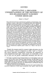 Advocating a Broader Understanding of the Necessity of Sex