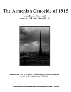 The Armenian Genocide of 1915