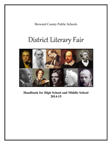 Literary Fair Handbook - Falcon Cove Middle School