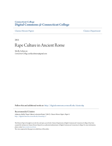 Rape Culture in Ancient Rome - Digital Commons @ Connecticut
