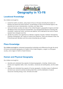 KS2 Geography Curriculum