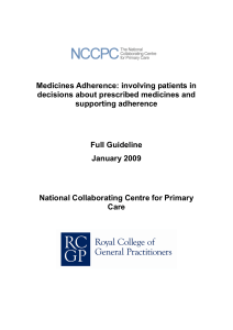 Medicines Adherence: involving patients in decisions about