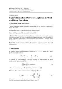 Square Root of an Operator - Information Sciences and Computing