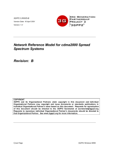 Network Reference Model for cdma2000 Spread Spectrum
