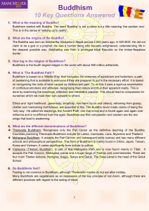 Buddhism - The University of Manchester