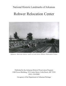 Rohwer Relocation Center - the Arkansas Historic Preservation